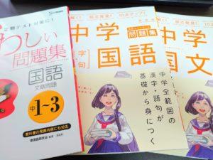 文章を書く基礎を復習するために中学生の国語ドリルをやっています。