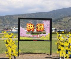 桃鉄ファン必見!!「決算」写真が撮影できるパネル!!【静岡県 富士市】